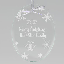 Winter Snowflakes Keepsake Ornament - Oval (EG0063)