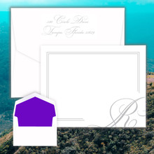 La Costa Personalized Flat Cards - Raised Ink Stationery | EG1076 | StationeryXpress.com