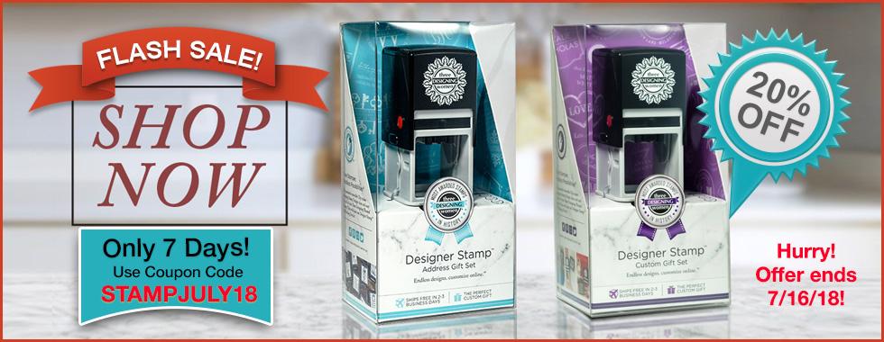 20% OFF Stamps FLASH SALE at StationeryXpress.com.