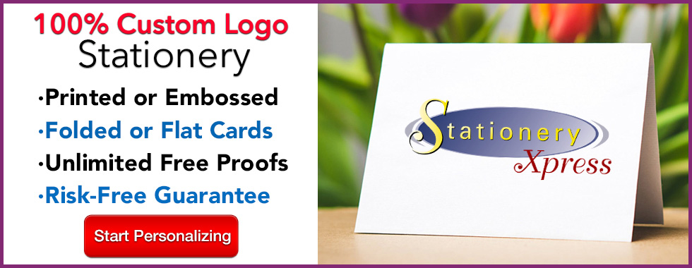 100% Custom Logo Stationery from StationeryXpress.com