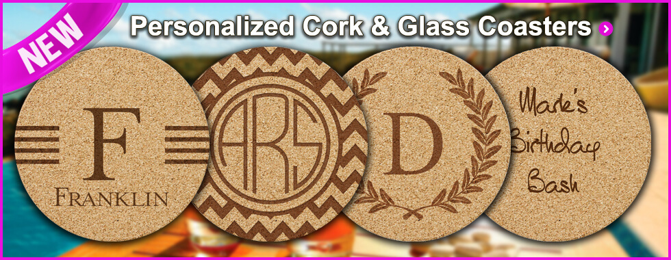 Personalized Coasters at StationeryXpress.com