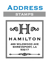 Address Stamps by Three Designing Women at StationeryXpress