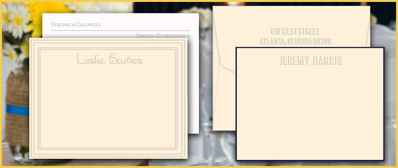 Embossed Flat Cards at StationeryXpress