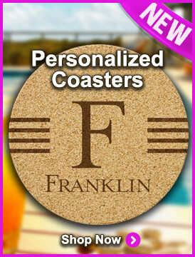New Personalized Coasters at StationeryXpress