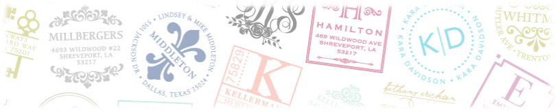Stamp designs by Three Designing Women